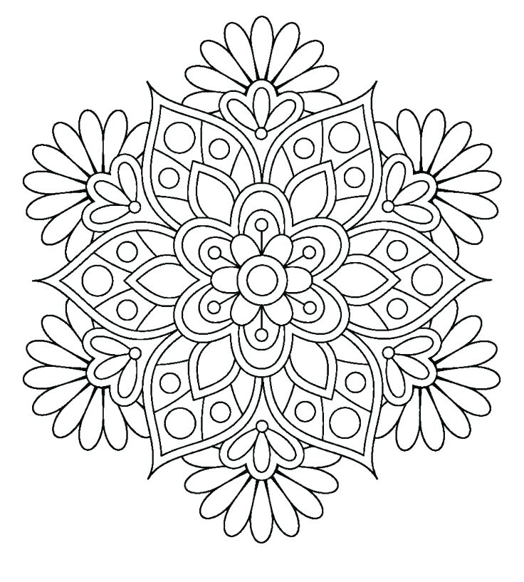 736x817 Flower Coloring Pages For Free