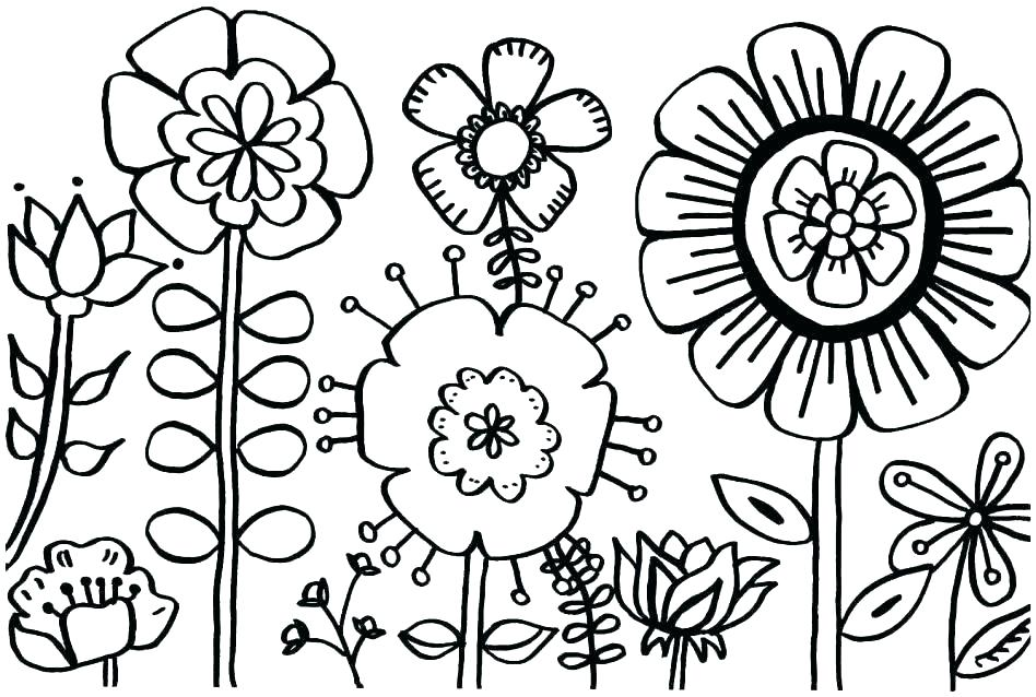 948x638 Beautiful Flower Coloring Pages Cool Flower Coloring Pages Pretty
