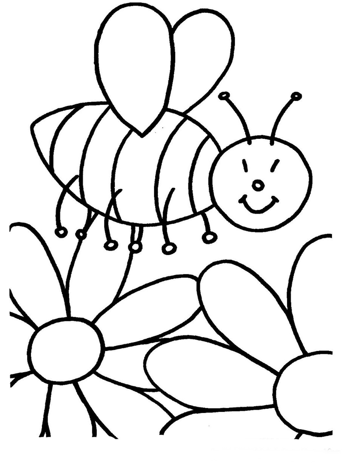 1200x1600 Free Printable Coloring Pages For Children Flower Wallpaper Bees