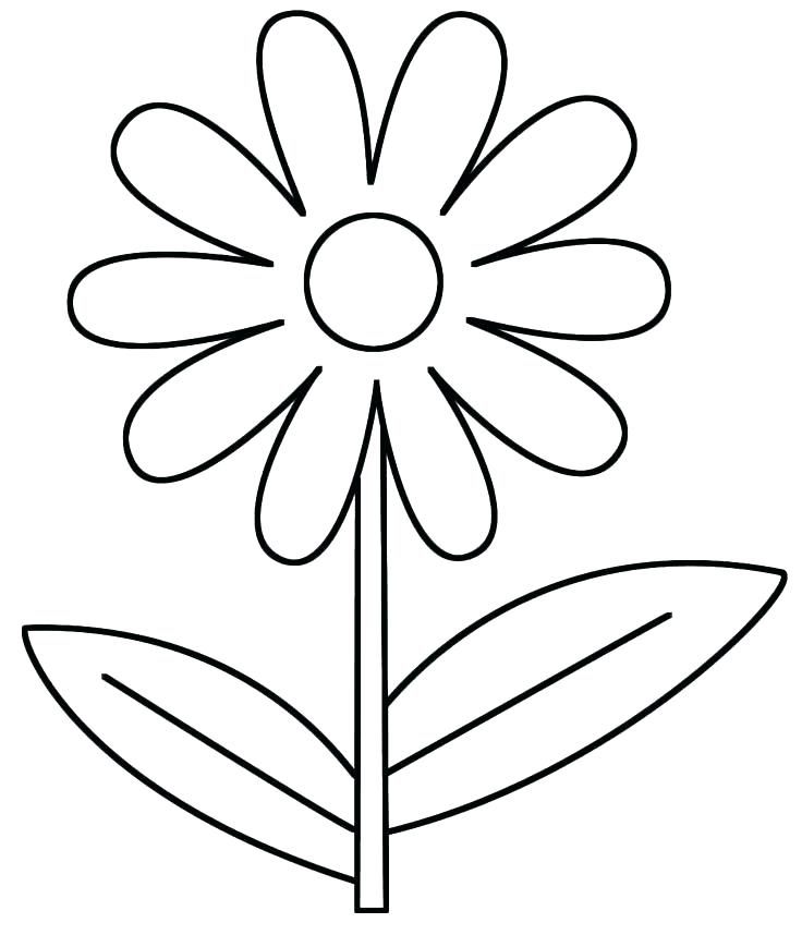 736x858 Lovely Flower Coloring Pages Pdf For Flower Coloring Sheet Flower