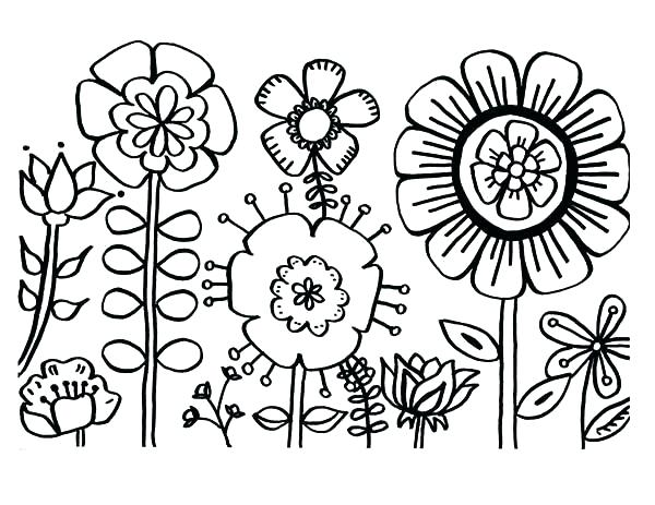 600x463 Flower Coloring Page Color Page Flower Flower Coloring Page