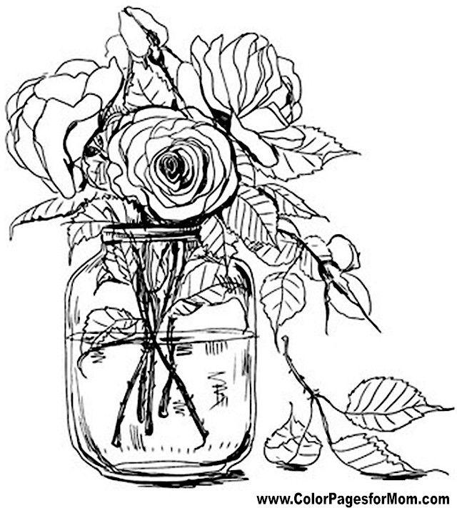 640x712 Color Pages Flowers Unique Flower Coloring Pages Ideas