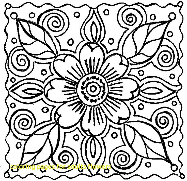 736x714 Coloring Pages For Adults Flowers With Best Flower Coloring