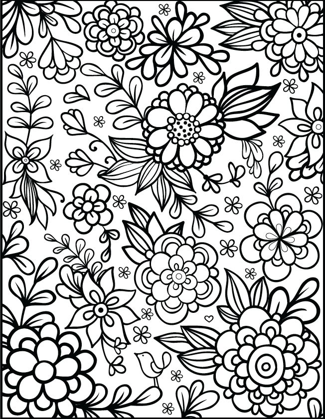 652x841 Free Floral Printable Coloring Page