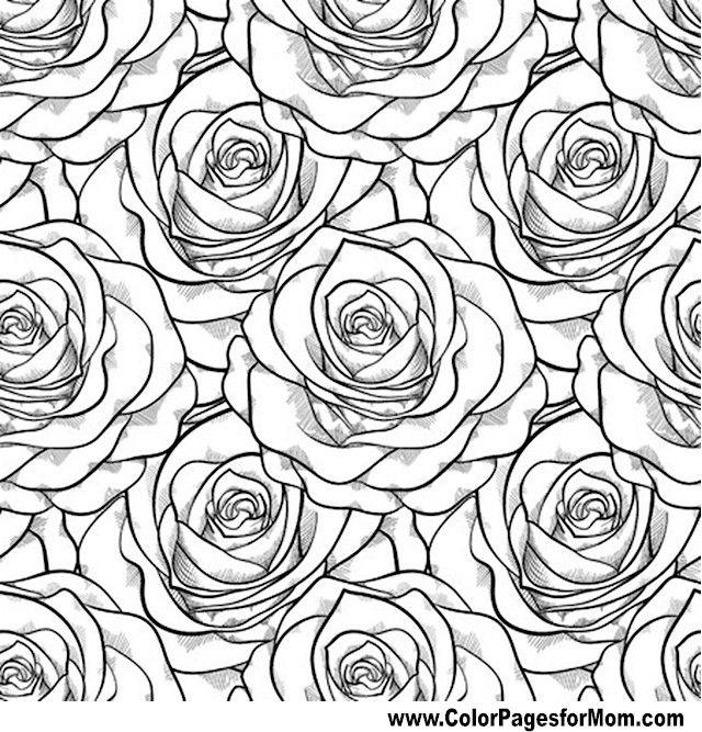 640x667 Flower Pattern Coloring Pages Unique Flower Coloring Pages