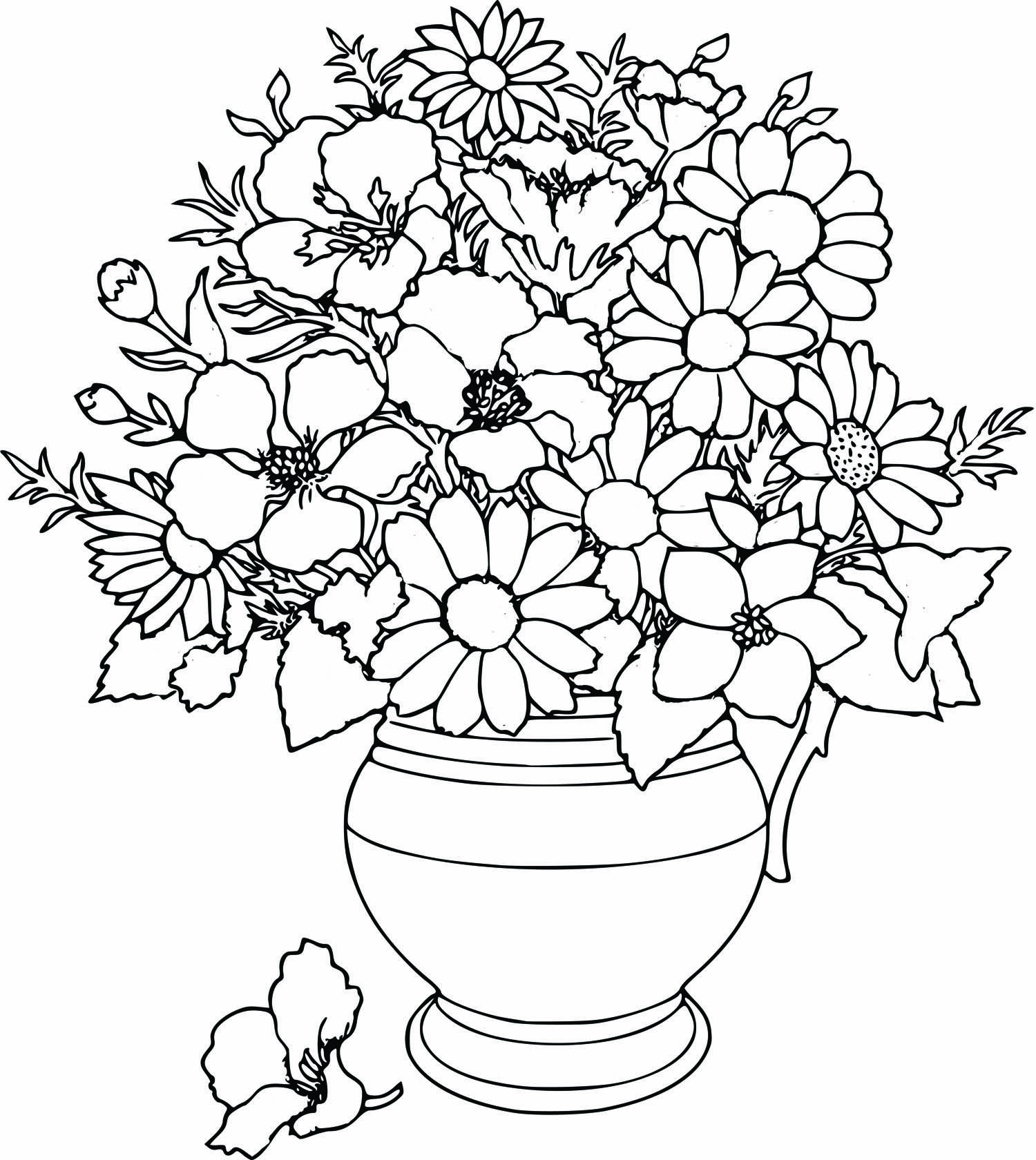 1500x1680 Free Beautifull Flower Coloring Pages Coloring Pages