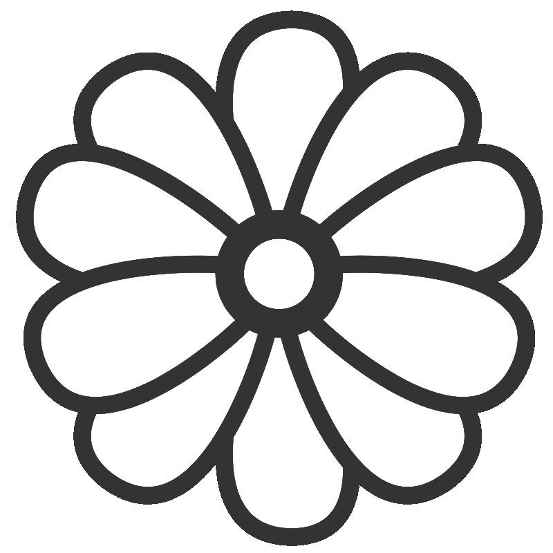 800x800 Cartoon Flower Coloring Page Coloring Pages