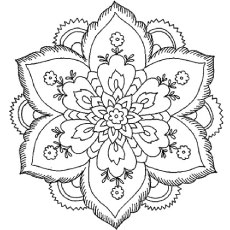 Flower Coloring Pages To Print Out