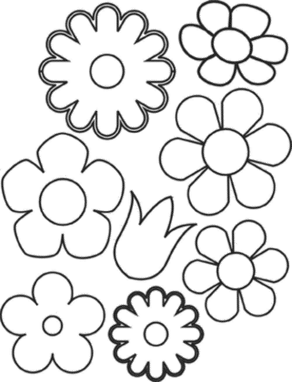 1000x1308 Print Out Flower Coloring Pages K Cute Draw Easy Flowers