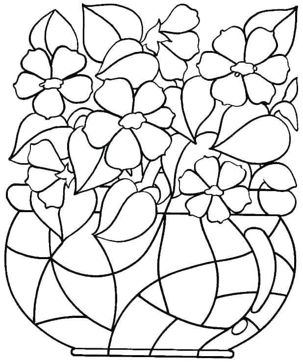 618x739 Print Out Coloring Pages Flowers Professional