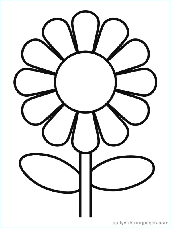 600x800 Flower Coloring Pages For Kids Printable