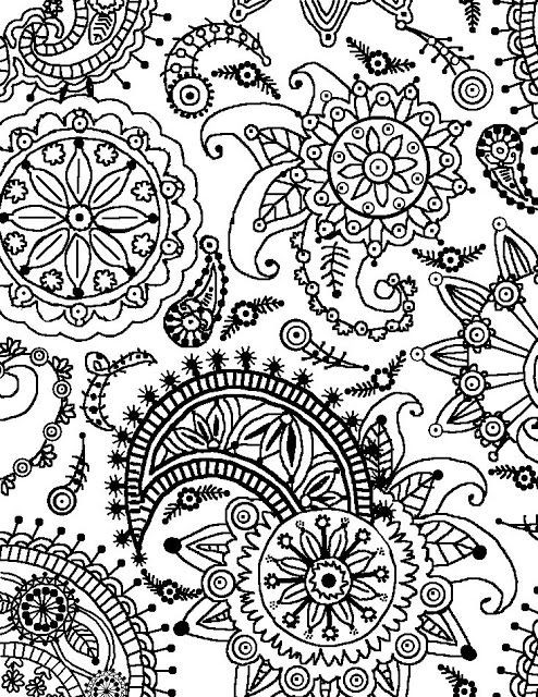 494x640 Flower Design Coloring Pages