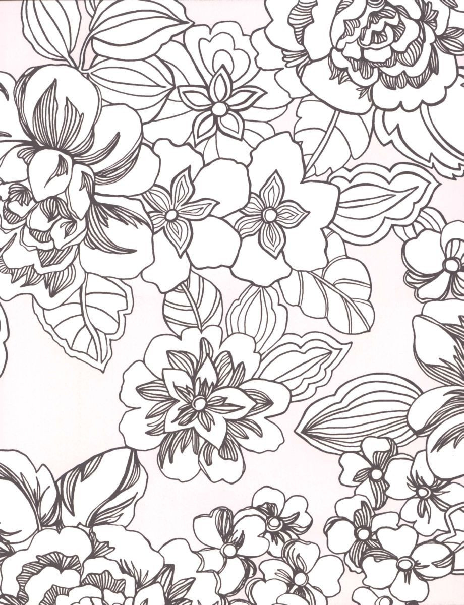 920x1200 Flower Pattern Coloring Pages Ahmedmagdy Me Endear Floral Acpra