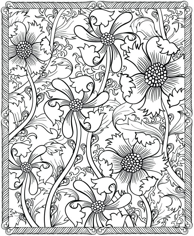 650x791 Flower Pattern Coloring Pages Brilliant Floral Pattern Coloring