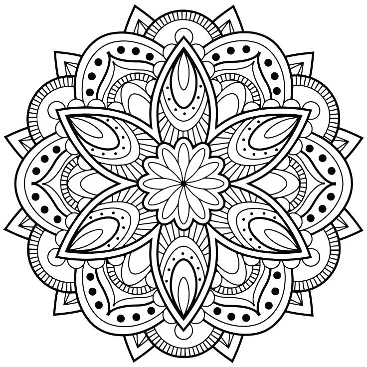 736x736 Simple Mandala Flower Design Vector Photo Elephant Mandala