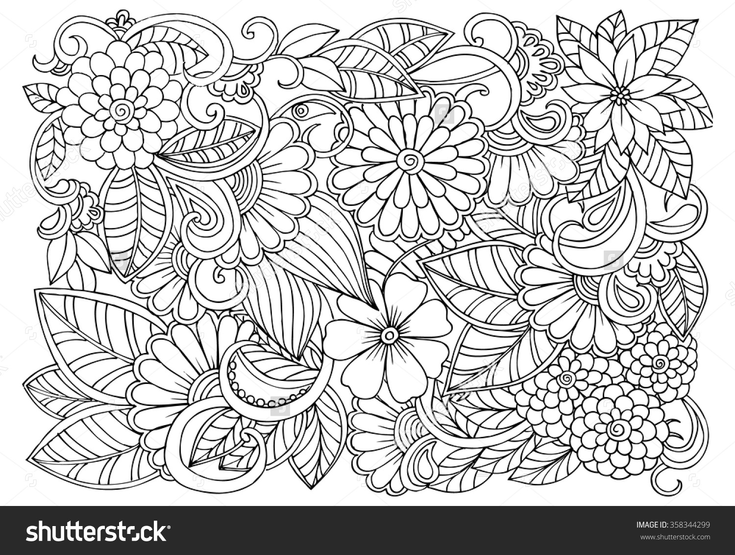 1500x1132 Cool Flower Pattern Design Color Pagesflower Free Download