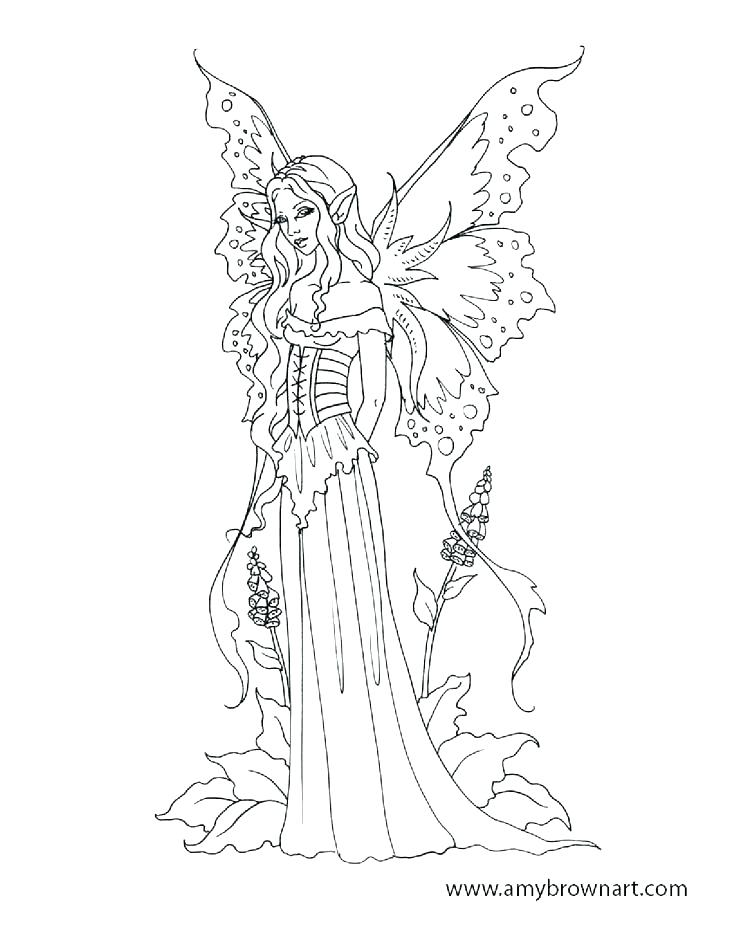 Flower Fairy Coloring Pages