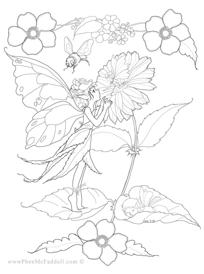 Flower Fairy Coloring Pages at GetDrawings.com | Free for personal ...