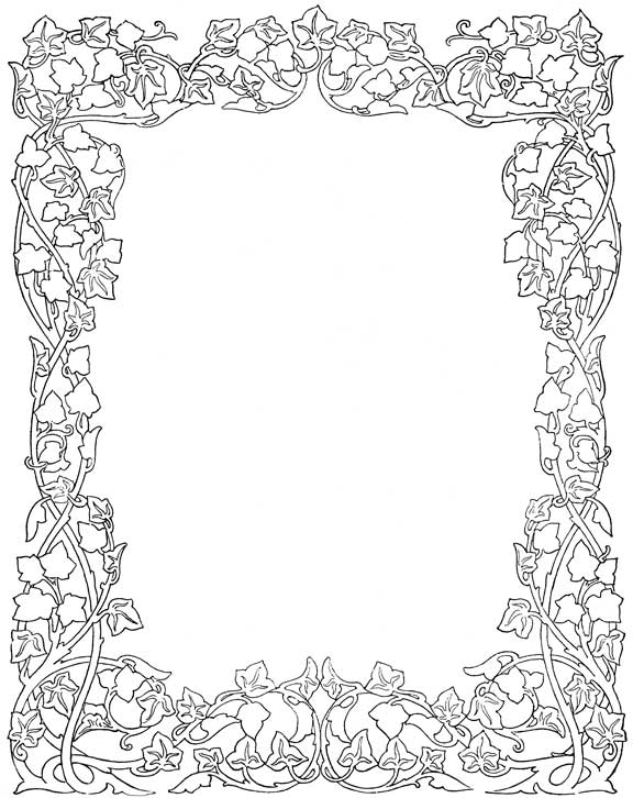 576x726 Floral Frames Patterns, Ornament And Pyrography