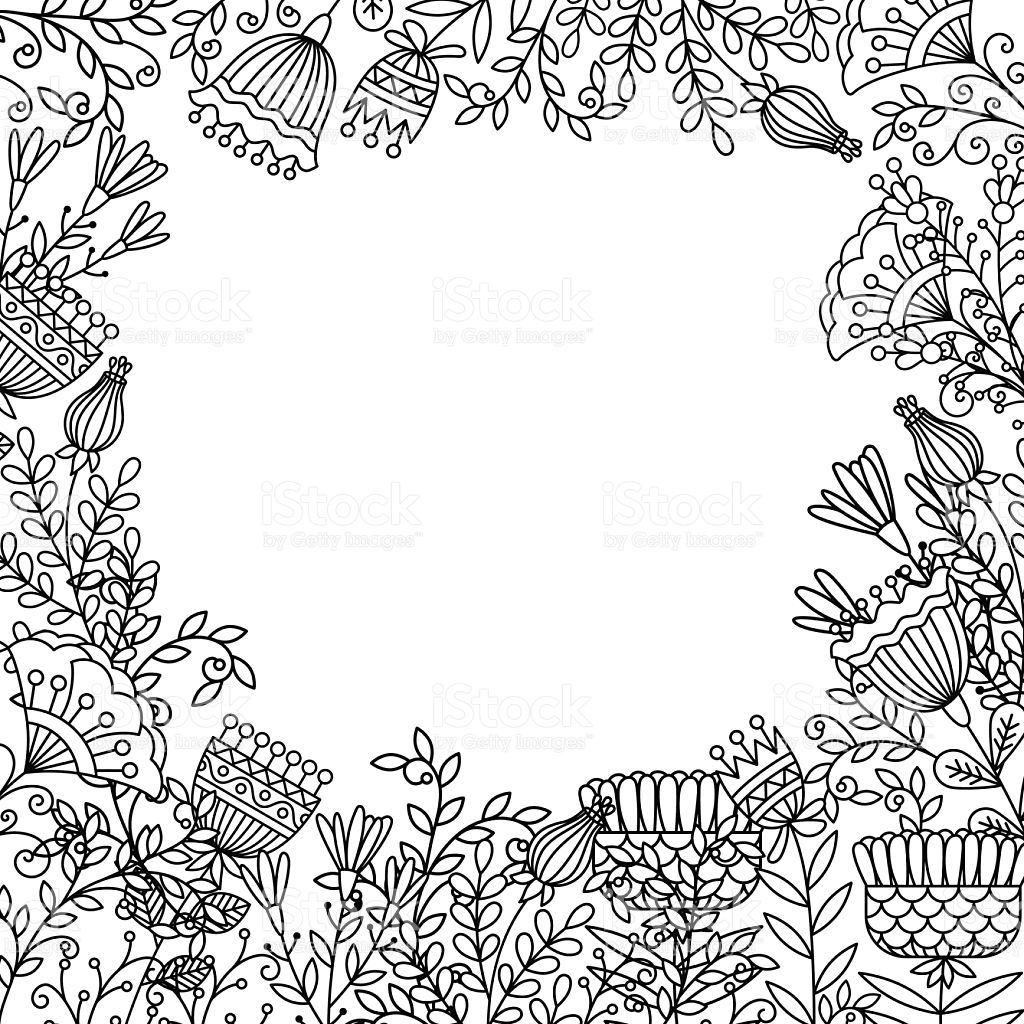 1024x1024 Flower Frame Coloring Pages Gallery Coloring Sheets