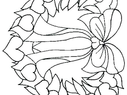 440x330 Hearts And Flowers Coloring Pages Hearts And Flowers Coloring