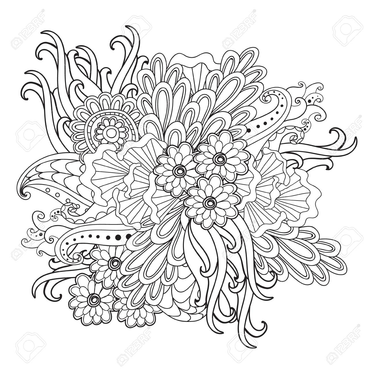 1300x1300 Awesome Flower Tattoo Coloring Pages Collection Printable