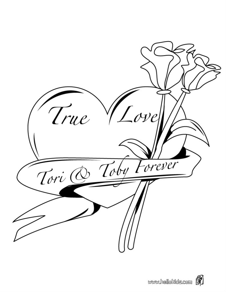 791x1022 Cool Hearts And Roses Coloring Pages Free Coloring Pages Download