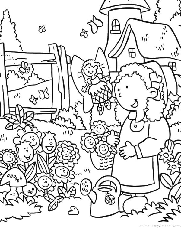 600x754 Daisy Flower Garden Coloring Page