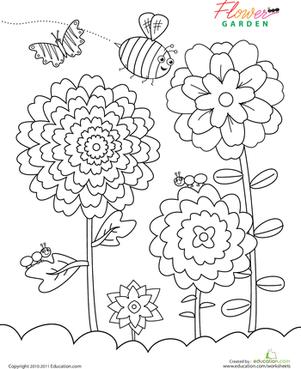 301x369 Flower Garden Worksheet