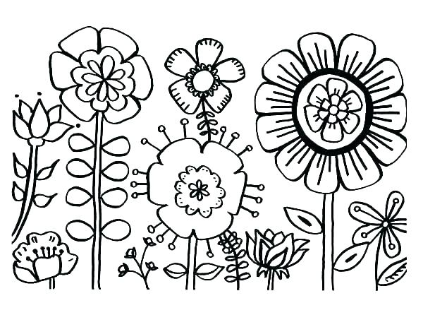 600x463 Flower Page Printable Coloring Sheets Beautiful Garden Coloring
