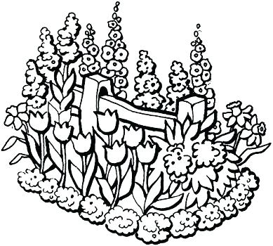 389x350 Garden Colouring Sheet Flower Garden Coloring Page Flower Page