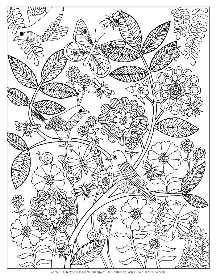 700x906 New Flower Garden Coloring Pages Or Life S A Garden Adult Coloring