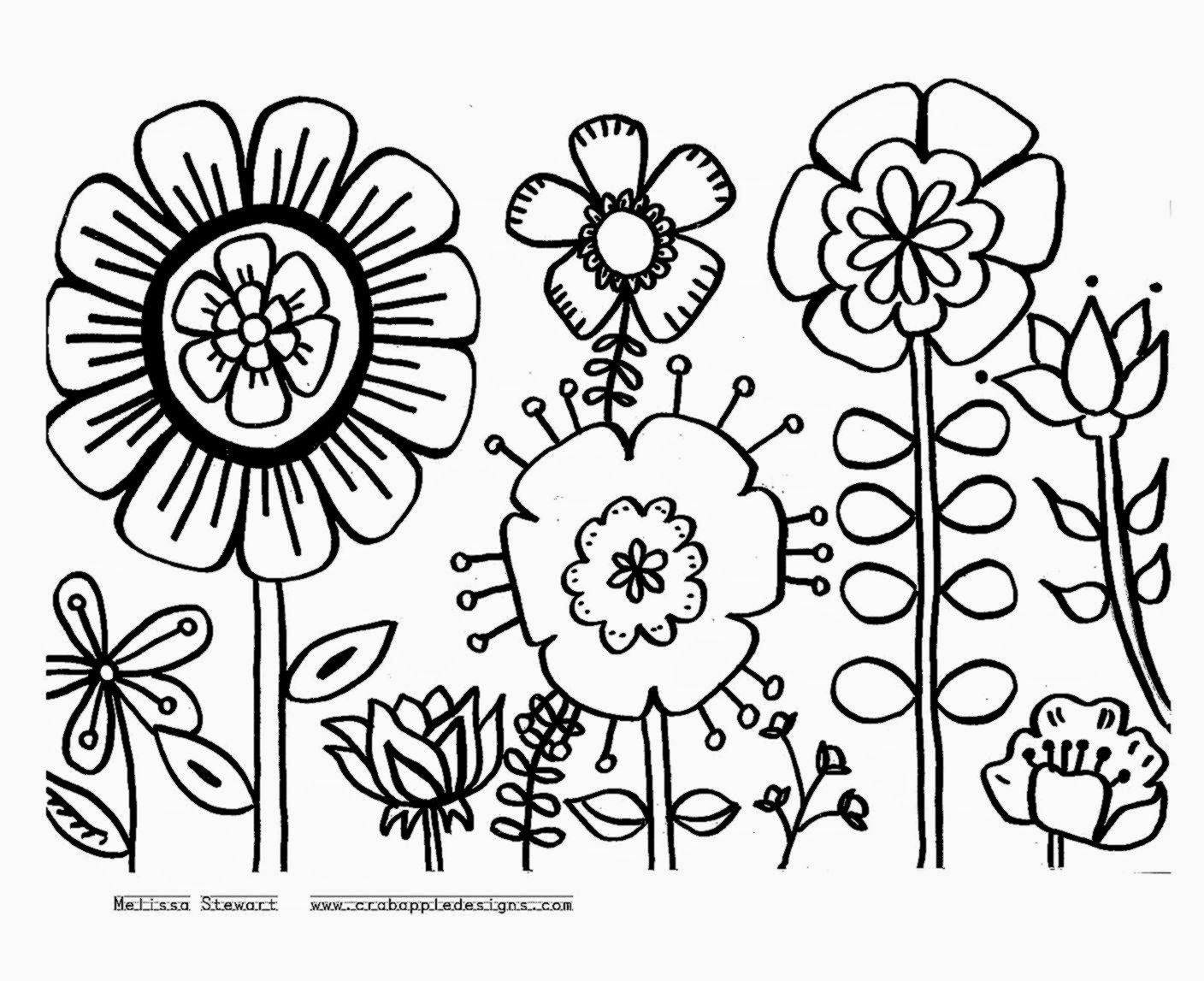1408x1147 Unbelievable Flower Garden Coloring Pages To And Print For Pic