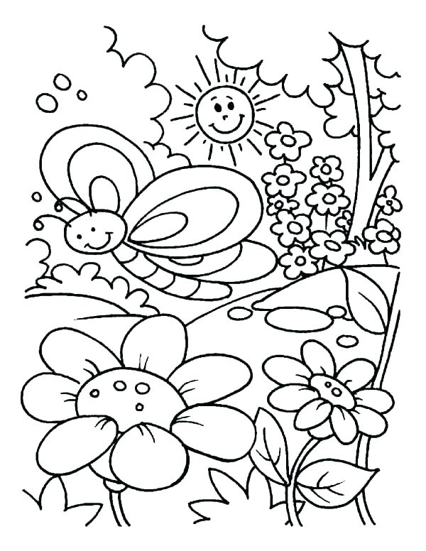 600x776 Flower Garden Coloring Pages