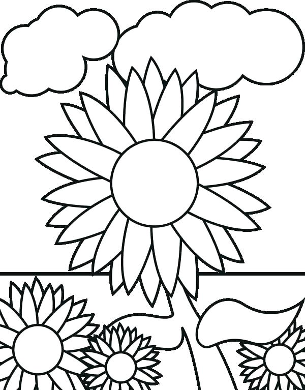 600x767 Flower Garden Coloring Sheets