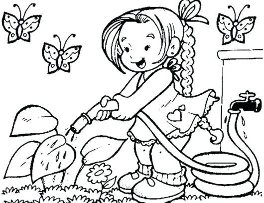 530x407 Flower Garden Coloring Page Flower Garden Coloring Pages Printable