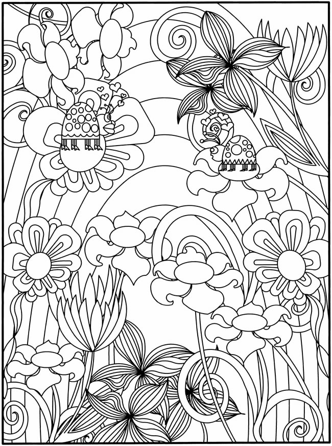 650x873 Flower Garden Coloring Pages To Download And Print For Free
