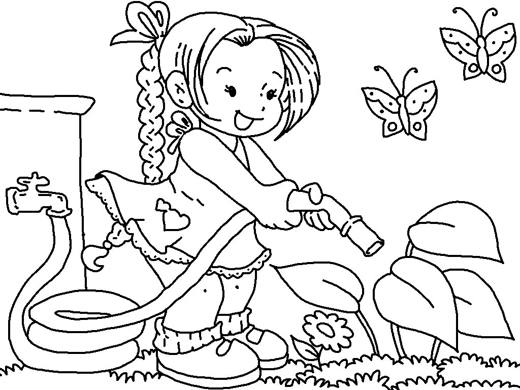 1024x768 Free Printable Flower Garden Coloring Pages Get This Bebo Pandco