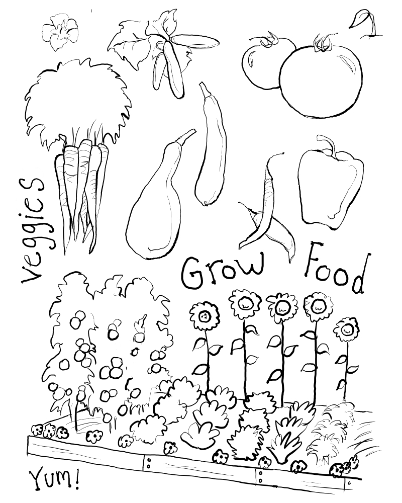 800x1000 Surprising Flower Garden Coloring Pages Free Of Gardens Printable