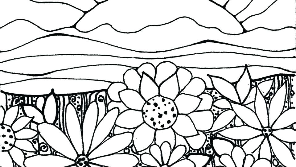 960x544 Collage Coloring Pages Garden Pictures For Coloring Collage Garden