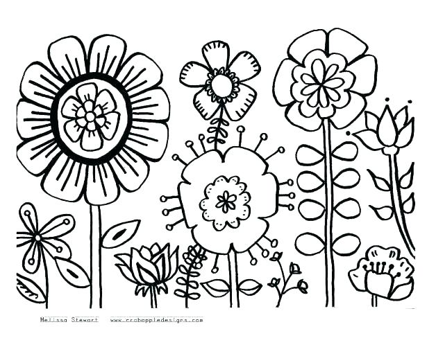 615x501 Daisy Scout Flower Coloring Pages Printable Coloring Flower Garden