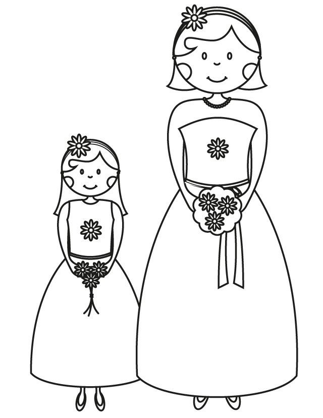 Flower Girl Coloring Pages