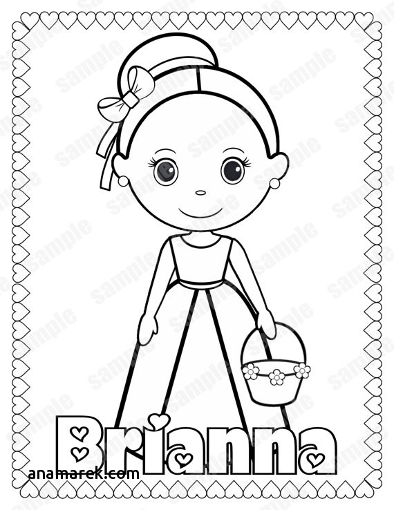 570x738 Flower Girl Coloring Book