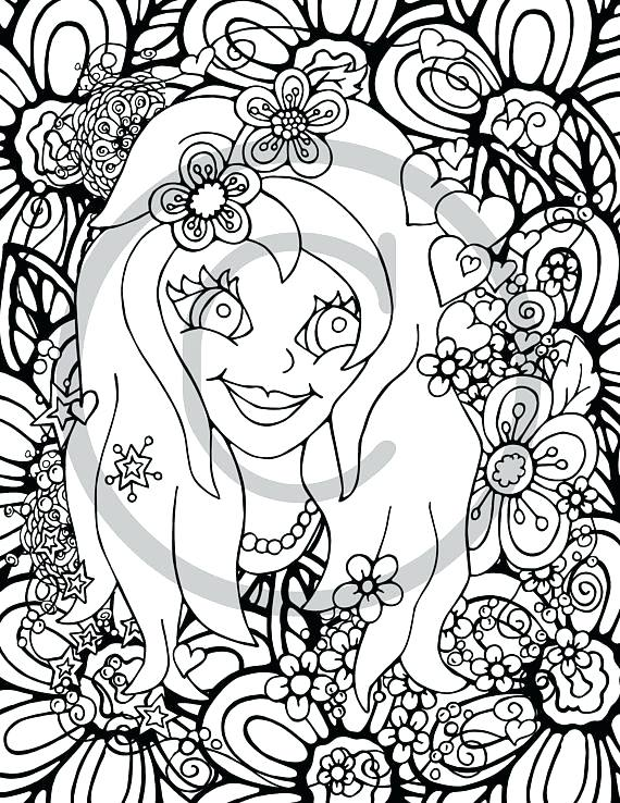 570x738 Flower Girl Coloring Books Also Flower Girl Coloring Book Page