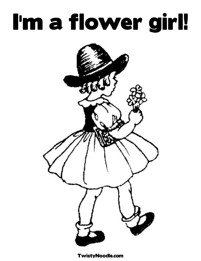 685x886 Flower Girl Coloring Pages