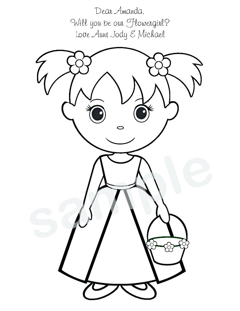 772x1000 Wedding Coloring Pages Free Flower Girl Coloring Pages Printable