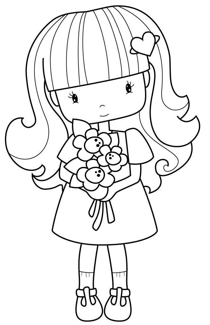 712x1104 Flowergirl Coloring Pages