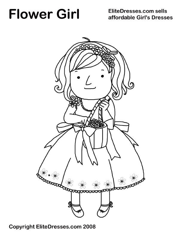 612x792 Best Flower Girl Coloring Book