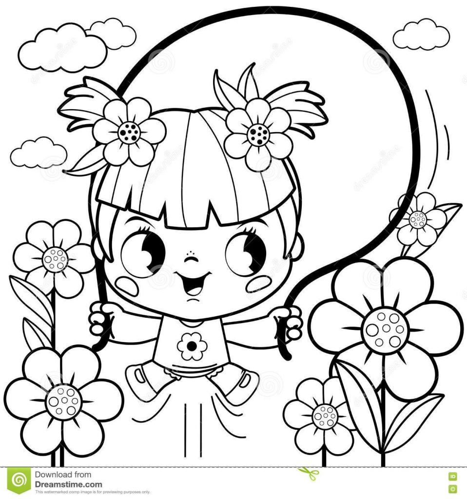 Flower Girl Coloring Pages at GetDrawings.com | Free for personal ...
