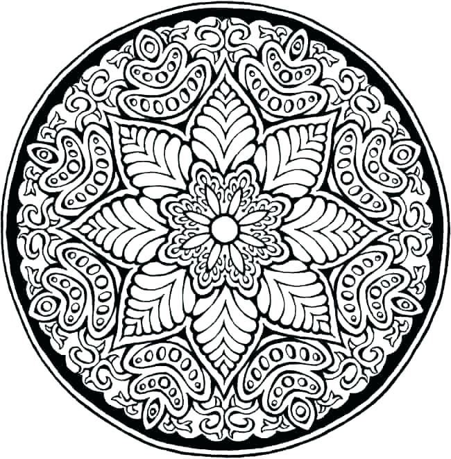 650x662 Flower Mandala Coloring Pages Fancy Mandalas Coloring Pages